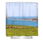 Pointe Du Grouin - Brittany Shower Curtain