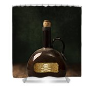 Poison Bottle Shower Curtain by Amanda Elwell