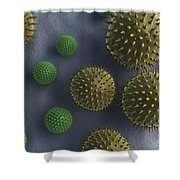 Pollen Grains Shower Curtain