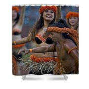Polynesian Dancers Shower Curtain