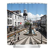 Ponta Delgada - Azores Shower Curtain