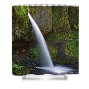 Ponytail Falls - Columbia River Gorge - Oregon Shower Curtain