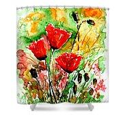 Poppy Lawn Shower Curtain