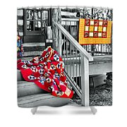 Porch Of Many Colors Shower Curtain