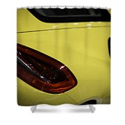 Porsche Cayman S Shower Curtain by Sebastian Musial