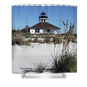 Port Boca Grande Lighthouse Shower Curtain