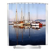 Port Orchard Marina Reflections Shower Curtain
