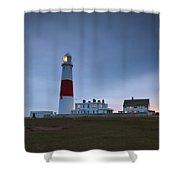 Portland Bill Lighthouse Shower Curtain