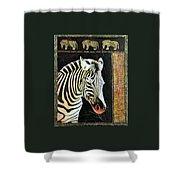 Portrait Of A Zebra Shower Curtain