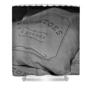 2 Pounds Of Potatoes Shower Curtain