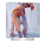 Precocious Shower Curtain by Kimberly Santini