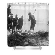 Prohibition Feds Destroy Liquor  1923 Shower Curtain