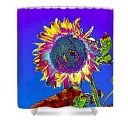 Psychedelic Sunflower Shower Curtain