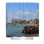 Puerto Vallarta Shower Curtain