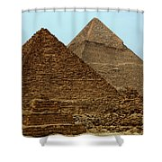 Pyramids At Giza Shower Curtain by Bob Christopher