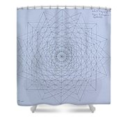 Quantum Foam Shower Curtain