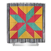 Quilting The Barn  Shower Curtain