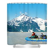 Rafters On The Alsek River Shower Curtain