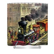 Railroad, 1874 Shower Curtain