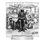 Railroad Accidents, 1871 Shower Curtain