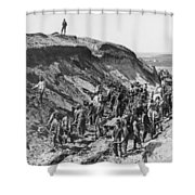 Railroading Construction Shower Curtain