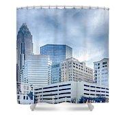 Rare Winter Scenery Around Charlotte North Carolina Shower Curtain