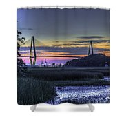 Charleston Bridge Low Tide Shower Curtain