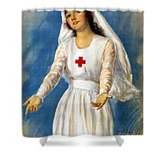 Red Cross Poster, 1918 Shower Curtain