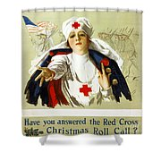 Red Cross Poster, C1918 Shower Curtain