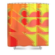 Red Effect Shower Curtain