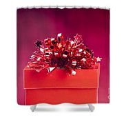 Red Gift Box Shower Curtain