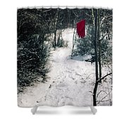 Red Glove Shower Curtain