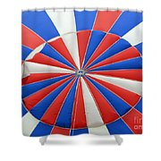 Red White And Balloon  Shower Curtain