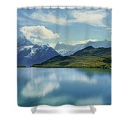 Reflection Of Clouds And Mountain Shower Curtain