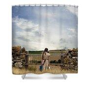 Refugee Girl Shower Curtain