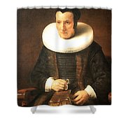 Rembrandt's An Old Lady With A Book Shower Curtain