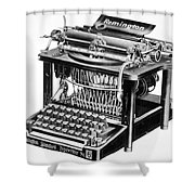 Remington Typewriter Shower Curtain