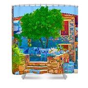 Colourful Restaurant Shower Curtain