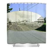 Rhode Island Road At Sakonnet Point In Little Compton Rhode Island Shower Curtain