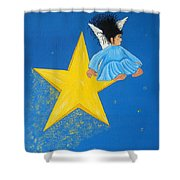 Ride A Shooting Star Shower Curtain
