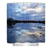 Riparian Sunset Shower Curtain