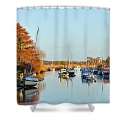 River Frome At Wareham Shower Curtain