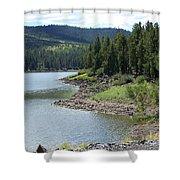 River Reservoir Shower Curtain