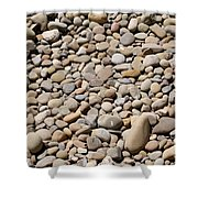 River Rocks Pebbles Shower Curtain