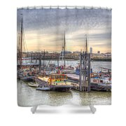 River Thames Boat Community Shower Curtain