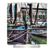 River Thames Sailing Barges. Shower Curtain