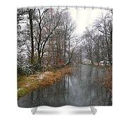 River With Snow Shower Curtain