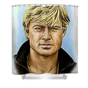 Robert Redford Shower Curtain by Andrew Read