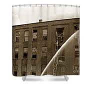 Rochester Show Case Co. Fire New York State Circa 1904 Shower Curtain