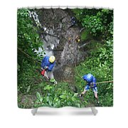Rock Climbing Rope Climbing Costa Rica Vacations Waterfalls Rivers  Recreation Challanges  Facilitie Shower Curtain